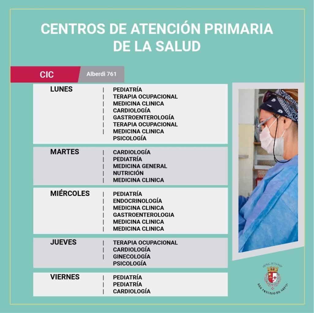 Centros de Atención Primaria de la Salud en San Antonio de Areco CIC