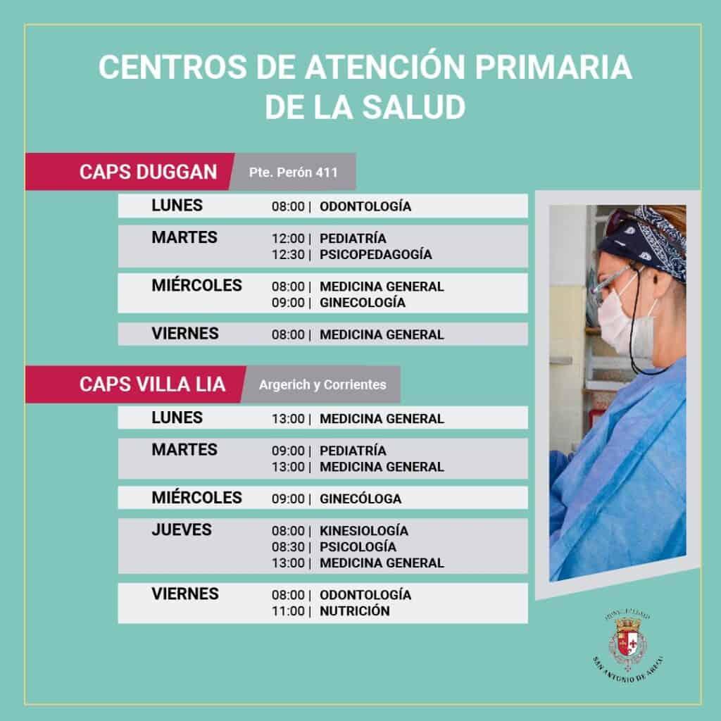 Centros de Atención Primaria de la Salud en San Antonio de Areco Duggan y Villa Lía