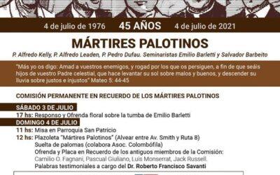 Mártires Palotinos en San Antonio de Areco