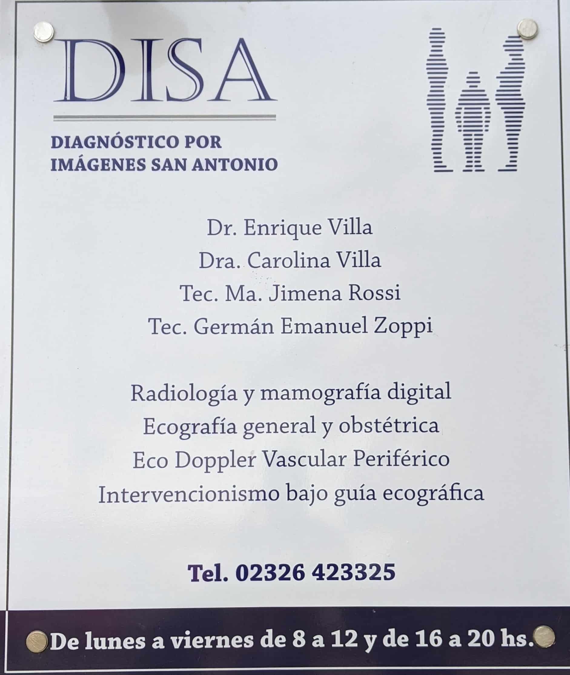 DISA Diagnóstico por imagenes en San Antonio de Areco